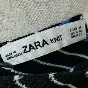 Zara Dresses - Zara One Shoulder Bodycon Ribbed Knit Stripe Dress